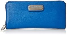 Women's Wallets - Marc by Marc Jacobs New Q Slim Zip Around Wallet Salton Sea One Size >>> Read more at the image link.