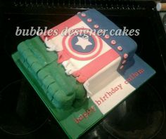 Avenger cake. Bubbles designers cakes
