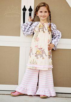 Pink and white stripe knit ruffle pants 12 18 24 by DressReHERSal, $28.00