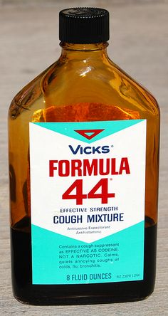 Vicks Formula 44 Cough Syrup - possibly the worst tasting cough medicine ever made