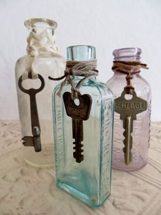 These three old antique apothecary bottles are dated between 1920-1940. Dug up in the California Central Coast area, one is unmarked and the other two