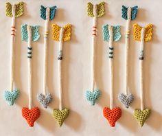 Crochet cupid's arrow pattern by Jill Watt on Ravelry