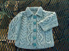 Free Pattern: Aran Baby Cardigan