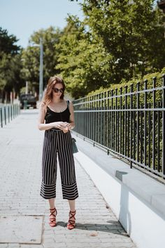 Fashion blogger style, personal style, outfit details, look of the day, what to wear, striped trouser, summer outfit, style, high heels
