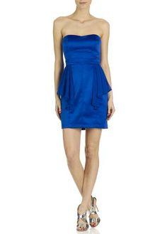 Robe maje bustier bleu