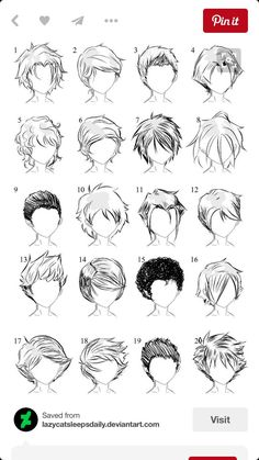Thank god, I need these, I never know how to draw male hair