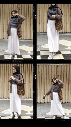 Modern Hijab Fashion, Hijab Fashion Inspiration, Muslim Fashion, Modest Fashion, Fashion Ideas, Style Inspiration, Hijab Casual, Ootd Hijab, Hijab Outfit