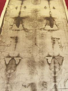 This is another photograph of the life-sized photograph of the Holy Shroud of Turin at the Shroud shrine at Corpus Christi Church in Portchester, New York.