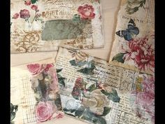 I watched a video today by Gi Kerr. She was stash busting her napkin scraps, I thought what a great idea! So her I am giving her idea a whirl and I like it. Napkin Decoupage, Decoupage Ideas, Vintage Paper Crafts, Bookbinding Tutorial, Mini Scrapbook Albums, Mini Albums, Shabby Chic Crafts, Mail Art, Altered Books