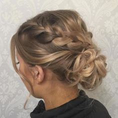 Low Bun With Braids For Thin Hair