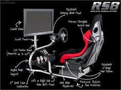 Trak Racer RS8 Racing Game Simulator Cockpit Simulation Seat  by DigOptions - $819.00