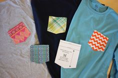 I didn't know custom pockets on Ts are a current trend. I better get stitching!! Carrie stitched up these cute pockets by pink chalk studio, via Flickr