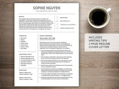 modern resume template for word cover letter references 2 page resume downloadable printable professional creative curriculum vitae