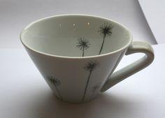 Tasse en porcelaine véritable avec dessin de pissenlit
