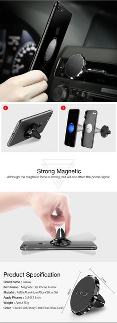 Phone Finger Grip Stand Car Vent Holder 3 in 1 Phone Bracket Smart Band Compatible with iPhone Xs Max XR 8 7 Plus Samsung Galaxy Smartphones Rose Gold White Marble