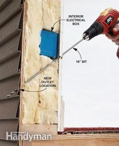 How to Add an Outdoor Outlet Add an outdoor electrical outlet to get power to where you need it, especially for holiday lights. Do it safely and easily with this simple through-the-wall technique. Hi April Rizzie Outdoor Electrical Outlet, Outdoor Outlet, Home Electrical Wiring, Electrical Projects, Electrical Outlets, Ac Wiring, Electrical Safety, Home Improvement Projects, Home Projects