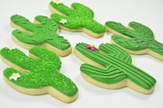 Cactus Sugar Cookies - 1 Dozen - Desert - Arizona - Wild West Cute decorated Iced sugar Cookies