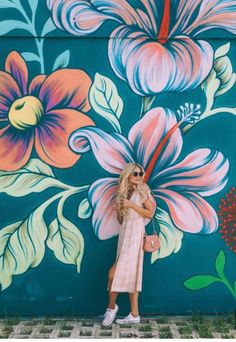 Barefoot blonde amber fillerup picture that flower mural, murals street art, mural Graffiti Art, Murals Street Art, Art Mural, Wall Murals, Graffiti Flowers, Mural Painting, Street Wall Art, Street Painting, Flower Mural
