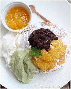 Pancake with Matcha Cream | Tokyo, Japan