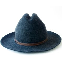 Cowboy Hat Wool Felt Hat Men's Hat Women's Hat Western Hat Travel Hat... ($169) ❤ liked on Polyvore featuring men's fashion, men's accessories, men's hats, mens western hats, mens wool felt fedora hats, mens travel hats and mens hats