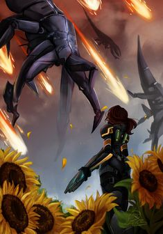 Sunflowers and Reapers.