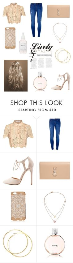 """Untitled #143"" by luckylover0801 ❤ liked on Polyvore featuring self-portrait, Dorothy Perkins, Charlotte Russe, Yves Saint Laurent, Michael Kors and Chanel"