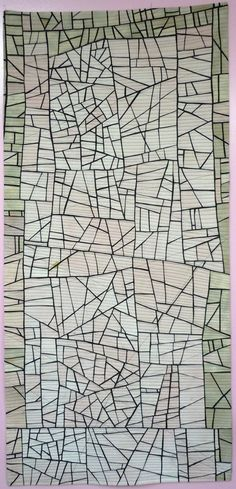 Fine line piecing by Kathleen Loomis   Art With a Needle