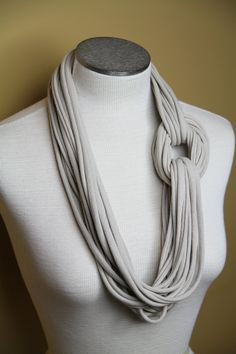 Extra larga T topo cremoso camisa Jersey infinito por thriftysister