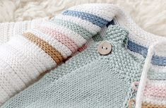 Learn how to make this GINGER Crochet Jacket with color stripes. FREE Step by Step Tutorial & Pattern. Crochet Jacket Pattern, Crochet Motif Patterns, Crochet Baby Cardigan, Knitted Romper, Knitting Patterns, Vogue Patterns, Sewing Patterns, Bobble Stitch, Yarn Brands