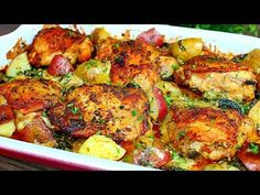 Creamy Garlic Butter Chicken and Potatoes Recipe – Easy Chicken and Potatoes Recipe These Chicken and potatoes are deliciously baked in a creamy garlic butter sauce, packed with amazing flavors. A Creamy garlic butter chicken and potatoes … source Easy Chicken And Potato Recipe, Meat And Potatoes Recipes, New Chicken Recipes, Creamy Garlic Chicken, Easy Potato Recipes, Potatoe Casserole Recipes, Chicken Potatoes, Rice Casserole, Chicken Casserole