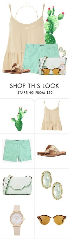 """I want a little cactus for my room"" by victoriaann34 ❤ liked on Polyvore featuring Topshop, J.Crew, Jack Rogers, Kate Spade, Kendra Scott, Ray-Ban and Ela Rae"