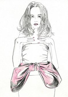 #illustration by Anne Hannoush inspiration Miss Dior