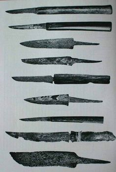 Viking age knives from Novgorod, Russia.