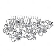 Gorgeous Alloy With Rhinestone Women's Hair Combs