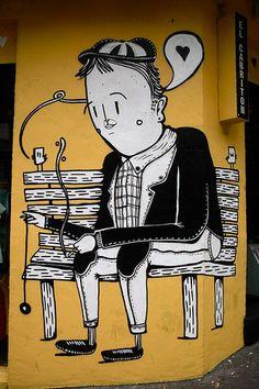 Street art by Alex Senna