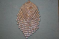 Vintage Wedding Brooch clear rhinestones for a dress by GeniceRill, $25.00