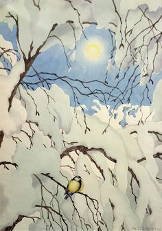 Mostly, but not limited to, nature-themed art and illustration. Painting Snow, Winter Painting, Light Painting, Theodore Kittelsen, Vive Le Vent, Illustrator, Most Popular Artists, Great Tit, Russian Painting