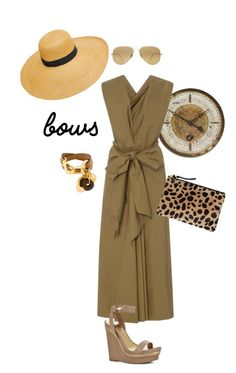 """Bowing"" by naomi-mann on Polyvore featuring Uttermost, Tome, Ray-Ban, Marni, BCBGMAXAZRIA and Clare V."