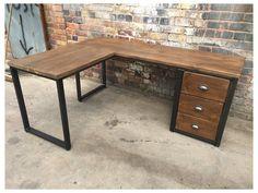 L Shaped Office Desk, L Shaped Corner Desk, Wood Office Desk, Home Office Setup, Home Office Space, Home Office Desks, Wood Corner Desk, Corner Office Desk, L Shaped Wood Desk