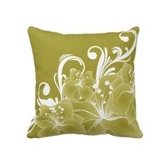 Gold and White Throw Pillow $59.95