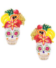 Betsey Johnson Skulls and fruit earrings