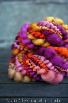 BETTY écheveau de laine filée main