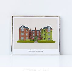 Items similar to Custom hand-drawn building portrait, custom building portrait, custom building illustration, hotel illustration, custom hotel portrait on Etsy Famous Shop, Building Illustration, Famous Beaches, Historical Monuments, Beaches In The World, Modern City, Orange Flowers, House Colors, Custom Homes