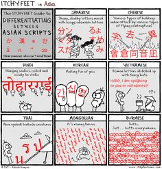 the Itchy Feet Guide to Differentiating between Asian Scripts