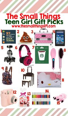 Gift Ideas For Teen Girls | Stocking stuffers, Stockings and Gift ...