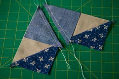 Flying Geese - Make 'em fast - two methods - Quilting Tutorial from ConnectingThreads.com