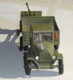 Zis 5 Lkw und Zis 3 Panzerabwehrkanone