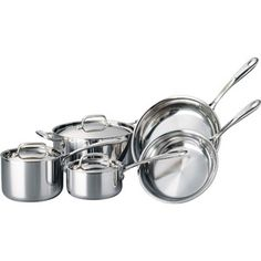 8-Piece Tramontina 18/10 Stainless Steel TriPly-Clad Cookware Set for $114 (reg. 150$)