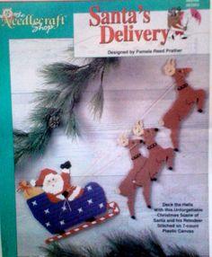 Santa delivery plastic canvas 1 of 4