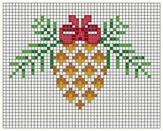 Pigna di Natale -Christmas pine cone - Pomme de pin de Noel - Blog di Gloria